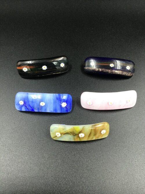 Fermacapelli in vetro di Murano fatto a mano