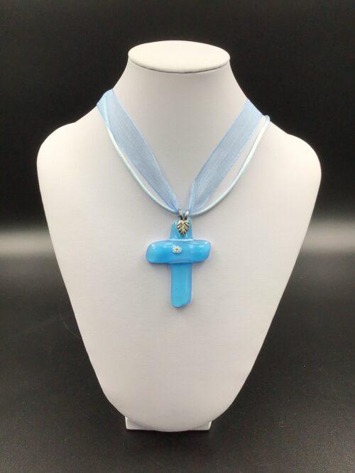Croce in vetro di Murano fatto a mano