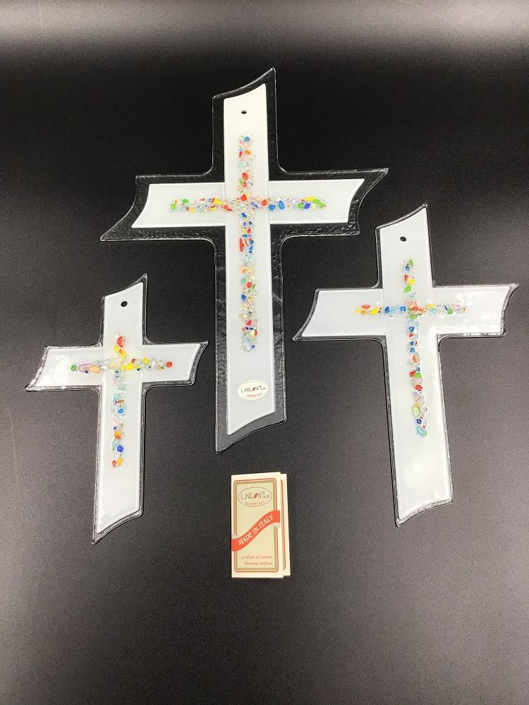 Croce in vetrofusione fatta a mano