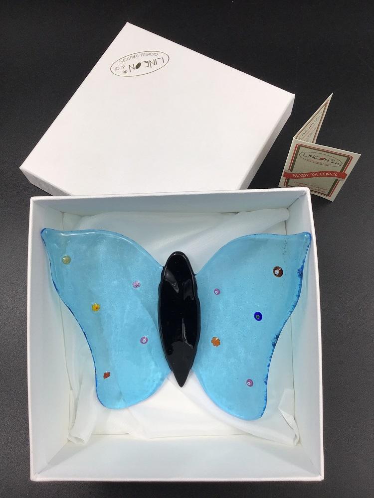 Farfalla in vetro di Murano fatto a mano