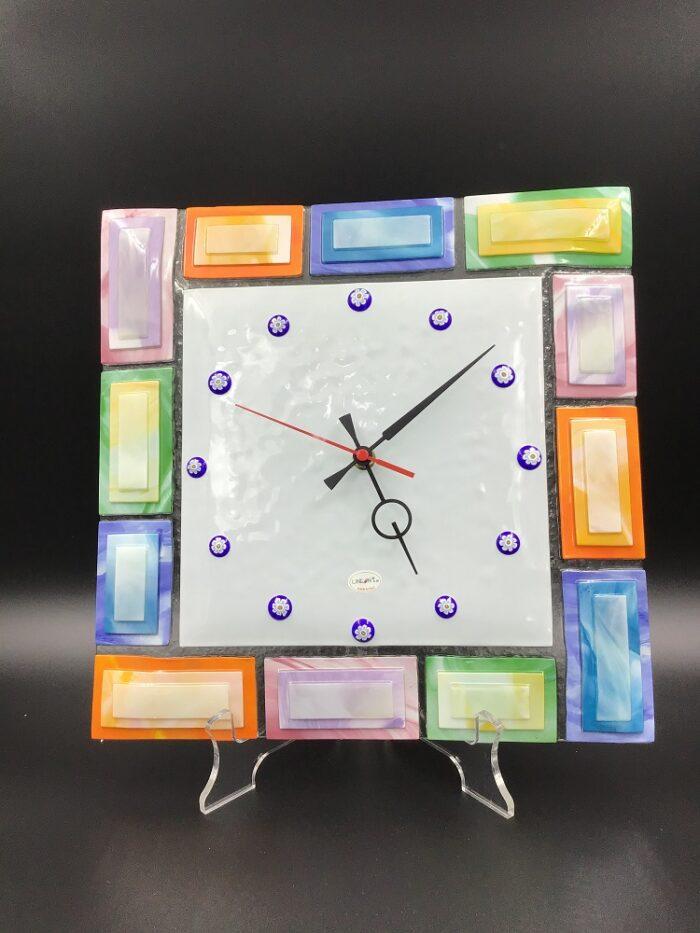 Orologio a parete in vetrofusione a mano