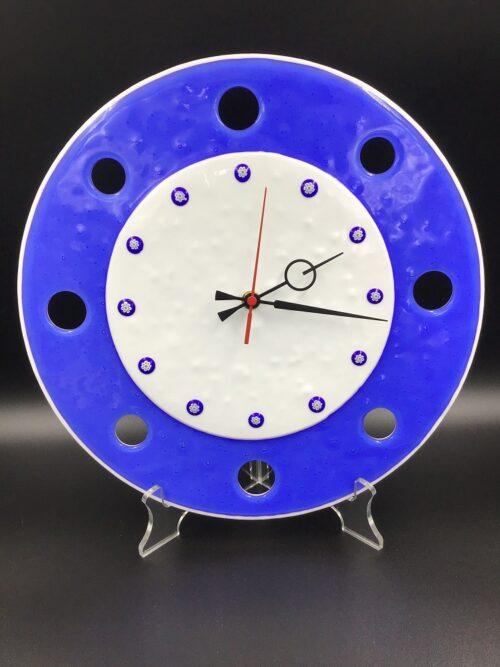 Orologio in vetro di Murano fatto a mano