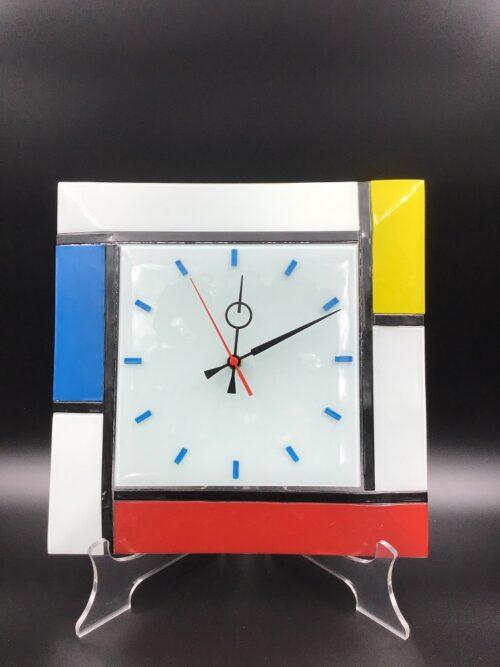 Orologio in vetrofusione fatto a mano