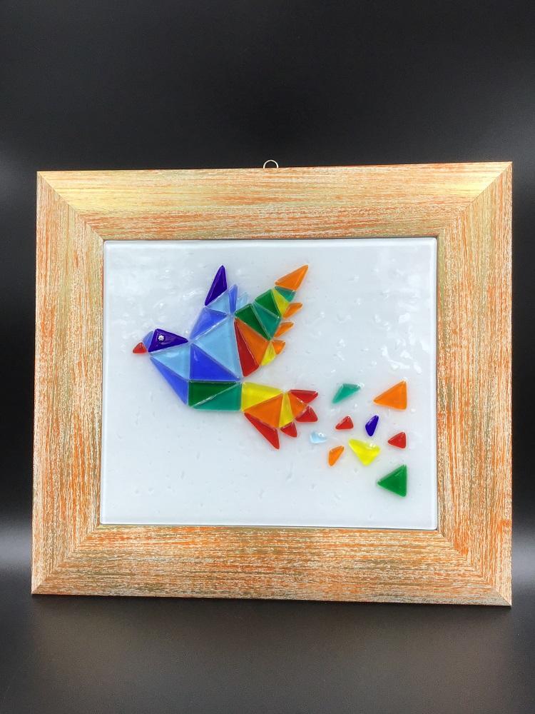 Quadro in vetro di Murano fatto a mano