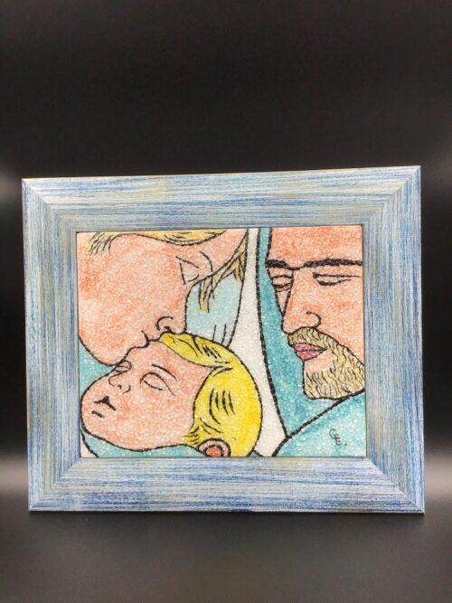 Quadro in vetro di Murano dipinto a mano