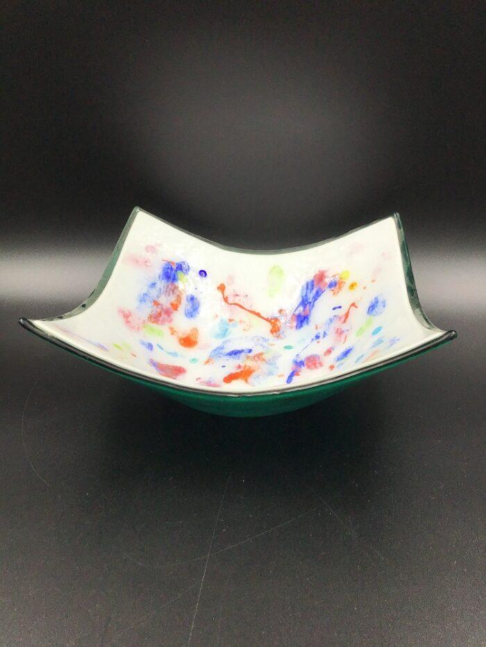 Centrotavola in vetro di Murano dipinto a mano