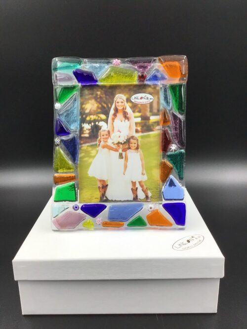 Portafoto in vetro di Murano fatto a mano